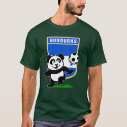 Men's Basic Dark T-Shirt with Honduras Football Panda design