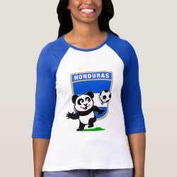Ladies Raglan Fitted T-Shirt with Honduras Football Panda design