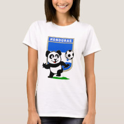 Women's Basic T-Shirt with Honduras Football Panda design