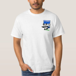 Men's Crew Value T-Shirt with Honduras Football Panda design