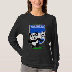 Women's Basic Long Sleeve T-Shirt with Honduras Football Panda design