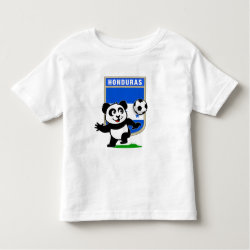 Toddler Fine Jersey T-Shirt with Honduras Football Panda design