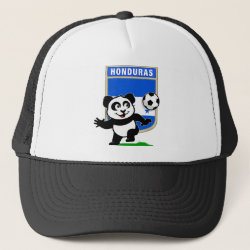 Trucker Hat with Honduras Football Panda design