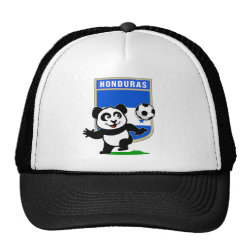 Trucker Hat with Honduras Football Panda design