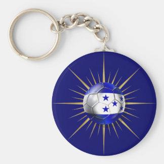 Honduras Soccer Starburst Keychain