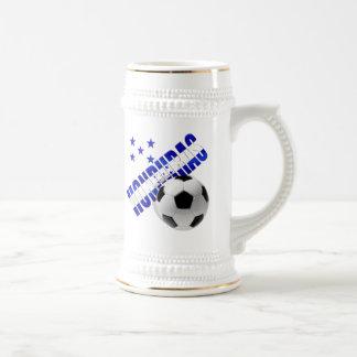 Honduras soccer stars football ball artwork design beer stein