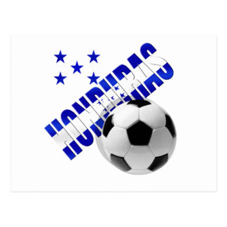 Honduras soccer stars football ball artwork design post card