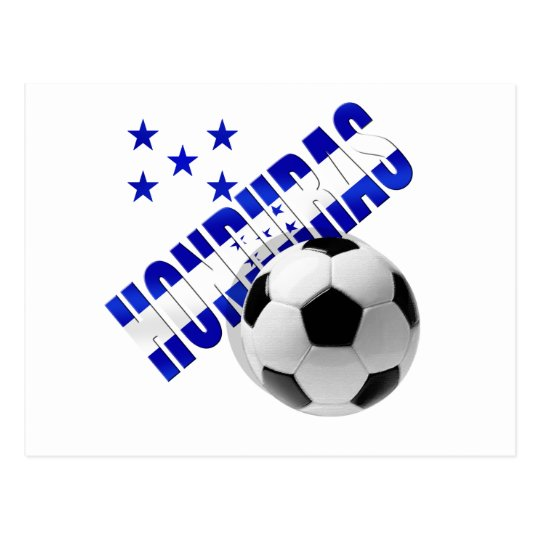 Honduras soccer stars football ball artwork design postcard