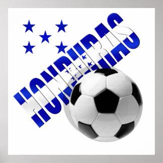 Honduras soccer stars football ball artwork design posters