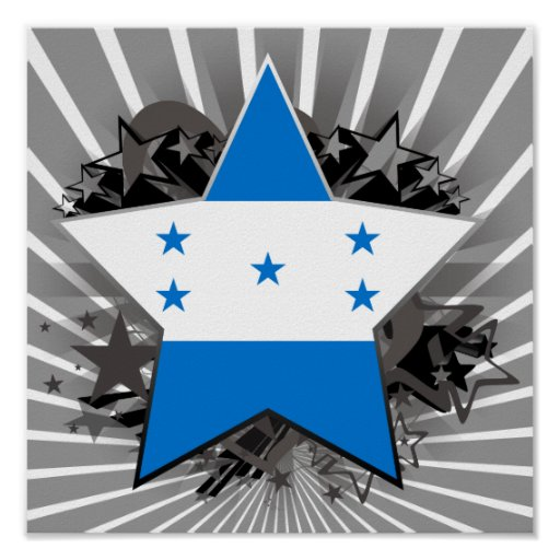Honduras Star Poster