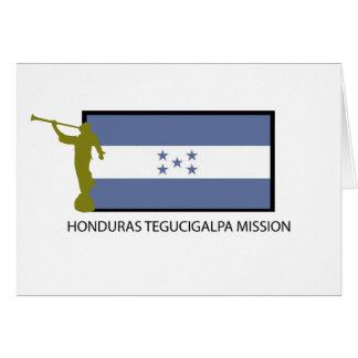 HONDURAS TEGUCIGALPA MISSION LDS CTR CARD