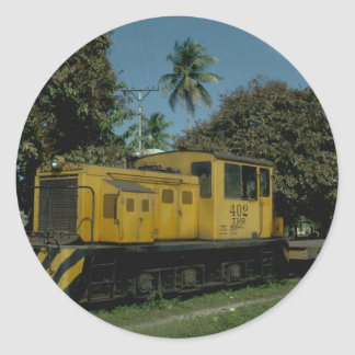 Honduras, Tele RR Plymouth diesel Classic Round Sticker