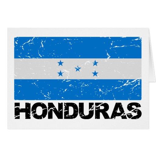 Honduras Vintage Flag Card