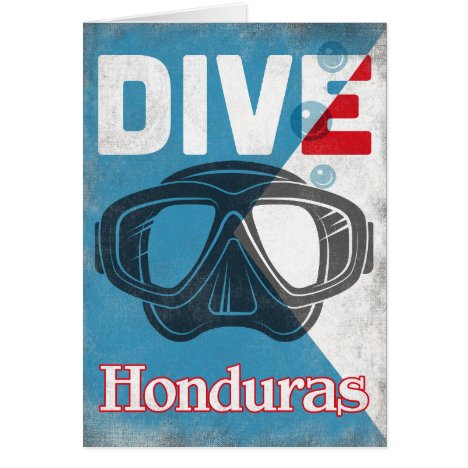 Honduras Vintage Scuba Diving Mask