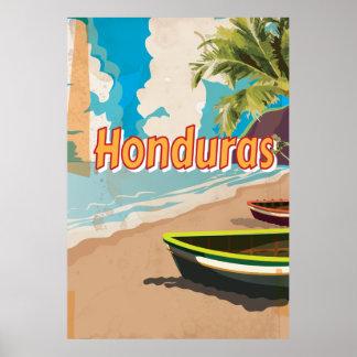 Honduras Vintage vacation Poster