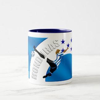 Honduras Volley kick soccer football gifts Two-Tone Coffee Mug