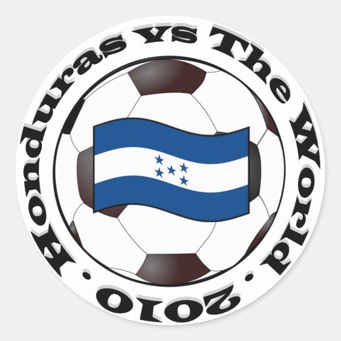 Honduras vs The World Classic Round Sticker