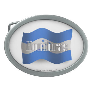 Honduras Waving Flag Oval Belt Buckles