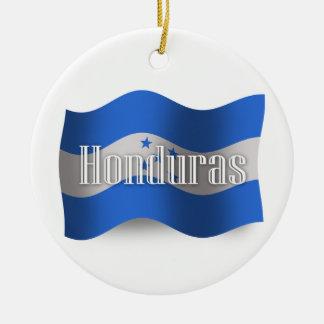 Honduras Waving Flag Ceramic Ornament