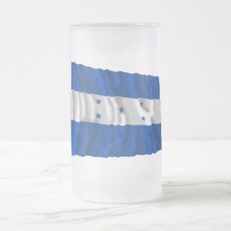 Honduras Waving Flag Frosted Glass Beer Mug