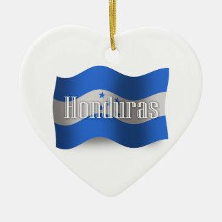 Honduras Waving Flag Ornaments