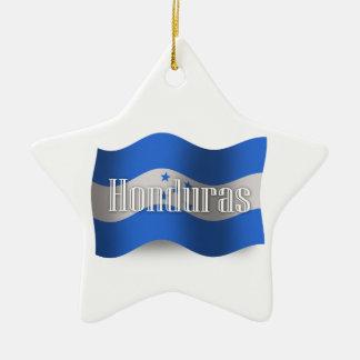 Honduras Waving Flag Christmas Ornaments