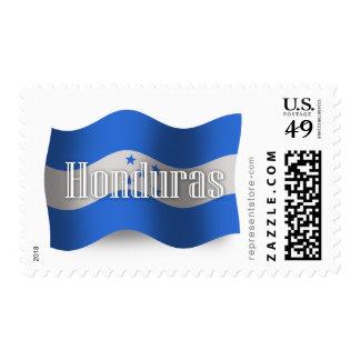 Honduras Waving Flag Postage Stamp