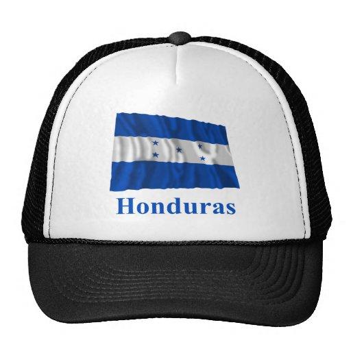 Honduras Waving Flag with Name Trucker Hat