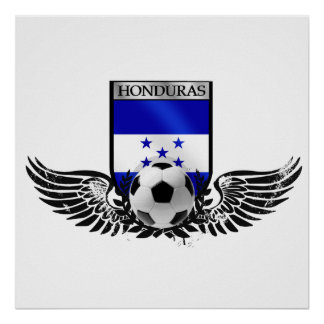 Honduras winged Honduran soccer futbol badge Poster
