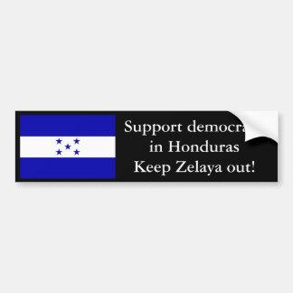 HondurasFlag democracia de la ayuda en HondurasKe Pegatina De Parachoque