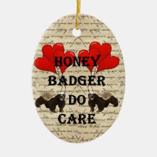 Hone badger do care ceramic ornament