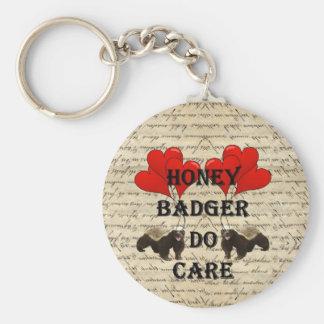 Hone badger do care keychain