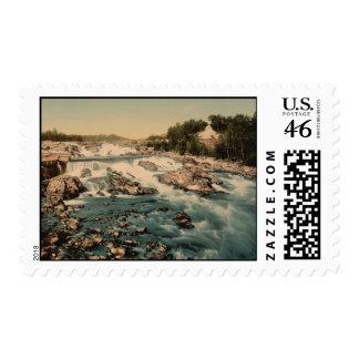 Hønefoss Rapids Ringerike Norway Postage Stamp