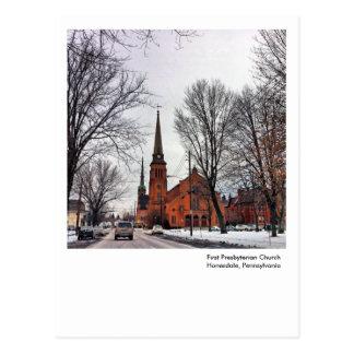 Honesdale, PA Post Card-First Presbyterian Church Postcard