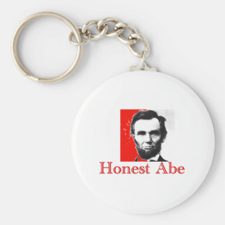 """Honest Abe"" Abe Lincoln Art T-Shirt & Gifts Keychain"