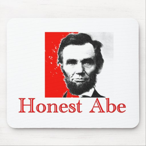 """""""Honest Abe"""" Abe Lincoln Art T-Shirt & Gifts Mouse Pads"""