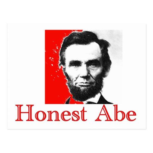 """Honest Abe"" Abe Lincoln Art T-Shirt & Gifts Postcard | Zazzle"
