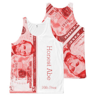20f7dd37f22847 Honest Abe All-Over-Print Tank Top