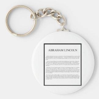 Honest Abe alternate layout Keychain