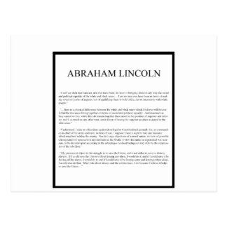 Honest Abe alternate layout Postcard