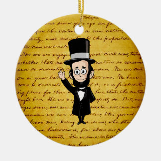 Honest Abe and His Gettysburg Address Ornament