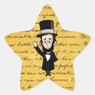 Honest Abe and His Gettysburg Address Star Sticker