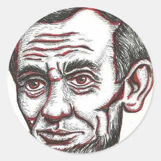 Honest Abe Classic Round Sticker
