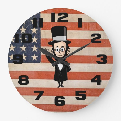 Honest Abe Lincoln and Old Glory Wallclocks
