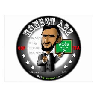 Honest Abe Postcard