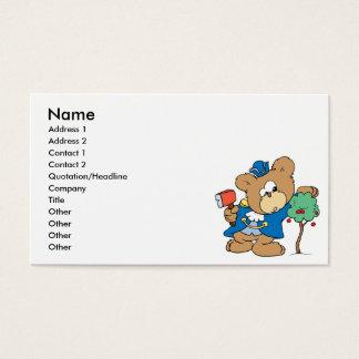 honest abe presidents day teddy bear design business card