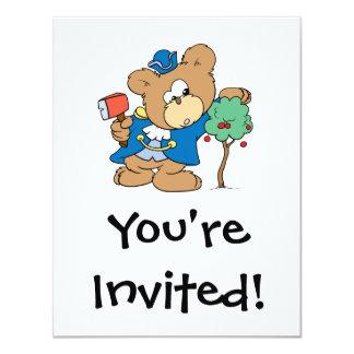 honest abe presidents day teddy bear design card