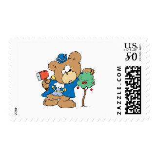 honest abe presidents day teddy bear design postage