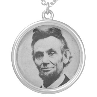 Honest Abe Silver Plated Necklace