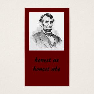 honest as honest abe business card